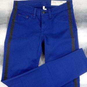 Rag & Bone Lapis Tuxedo Stripe Skinny Jeans 25